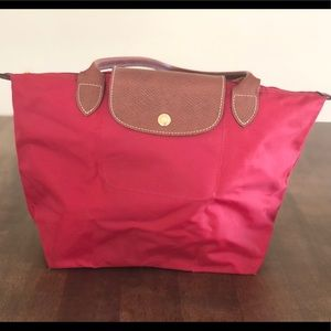 Longchamp Small Le pliage Red shoulder Tote